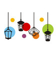 lamp idea logo background vector image