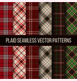 Lumberjack plaid buffalo check gingham seamless vector image