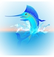 Marlin jumping out of the water vector image