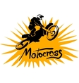 Motocross picture vector image vector image