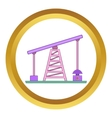 Oil rig icon vector image vector image