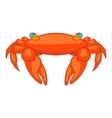 Orange crab icon cartoon style vector image vector image