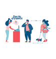 people in medical masks doing shopping vector image vector image