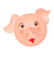 pig on white background christmas holiday winter vector image vector image