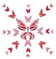 pink butterflies vector image vector image