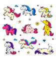 pony cartoon little horse baby and girlish vector image vector image