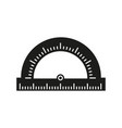 protractor of school icon vector image vector image