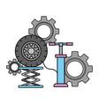 pumps air wheel car automotive service vector image