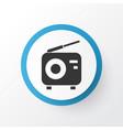 radio icon symbol premium quality isolated tuner vector image vector image