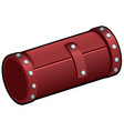 red leather cosmetic tube isolated on white vector image vector image