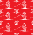 red seamless pattern santa claus vector image vector image