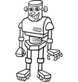 robot cartoon for coloring vector image vector image
