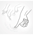 rub hands icon vector image vector image
