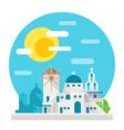 Santorini flat design landmark vector image vector image