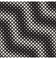 Seamless Black And White Diagonal ZigZag vector image vector image