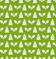 Seamless christmas pattern fir tree and holly