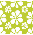 seamless floral pattern repeated green flowers vector image vector image