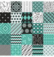 seamless pattern big set blue and white colors vector image