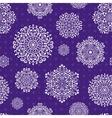 Seamless snowflake pattern vector image vector image