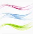 set abstract flow transparent color wave vector image