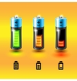 set batteries charge conditions vector image