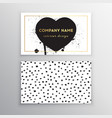 set of business card templates with dots vector image