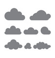 set of clouds of different forms isolated on a vector image
