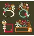 Set of cute banners with birds and flowers vector image vector image