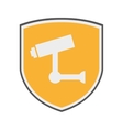 shield security system isolated icon vector image vector image