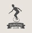 surfing club logo icon or symbol man surfer vector image