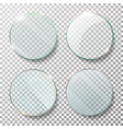 transparent round circle set realistic vector image