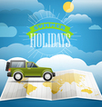 Vacation concept Summer holidays vector image vector image
