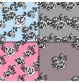 Vintage black and white rose patterns vector image vector image