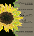Vintage elegant sunflower wedding invitation vector