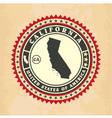 Vintage label-sticker cards of California vector image