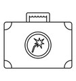 welding bag icon outline style vector image