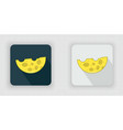 yellow semicircular cheese icon vector image