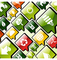 Green environment apps icons background vector image