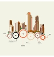 Skyscrapers stand on the gears vector image