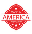 made in usa label 02 vector image