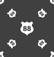 Route 88 highway icon sign Seamless pattern on a vector image