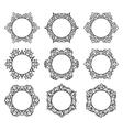 Set of 9 round frames vector image