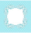 blue ornamental frame vintage decoration vector image