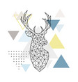 abstract geometric silhouette of a deer on simple vector image vector image