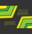 abstract green yellow double arrow on gray vector image vector image