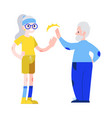 aged man and woman in vector image