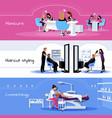 Beauty Salon Service Horizontal Banners vector image