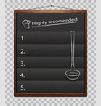 black menu boards isolated chalkboard for menu vector image