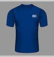 brand blue tshirt icon realistic style vector image vector image