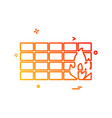 bricks wall icon design vector image vector image
